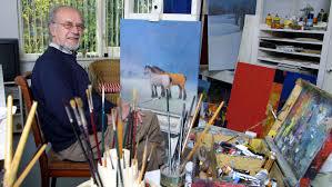 Jo Alting in zijn atelier