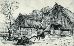 Boerderij met schuur te Wezup van Simon Moulijn