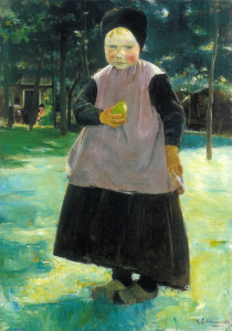 Boerenmeisje Eva van Max Liebermann