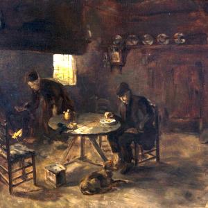 Interieur Drentse Boerderij van Albert Neuhuys