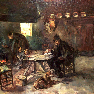 Drents boerderij interieur van Albert Neuhuys