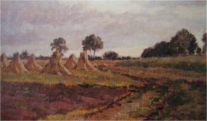 Korenschoven van Willem Roelofs