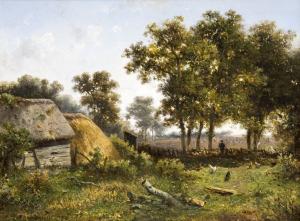 Landschap te Aalden van Claes Hendrik Meiners