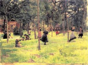 Spelende kinderen van Max Liebermann