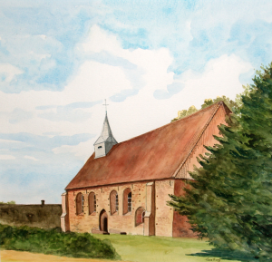 Kerkje Zweeloo van Toos Kraay