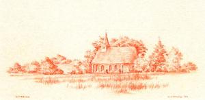 Kerkje Zweeloo van Kees Verweij