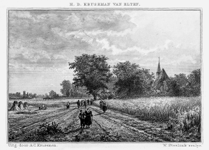 Litho Op weg naar Zweeler Kerkje