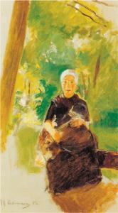 Mutter und Kind van Max Liebermann