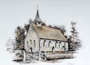 Kerkje Zweeloo 2006 van Kees Verweij