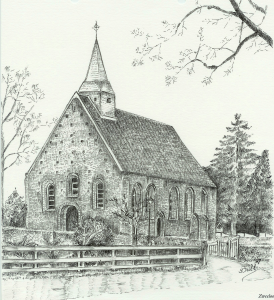 Kerkje Zweeloo van illustrator Yvinne Brill