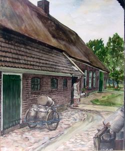 Kruisstraat Zweeloo van Wim Engel