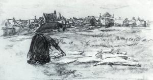 Schets van de bllek van Max Liebermann
