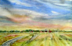 Gezicht op Zweeloo van Anne Tromp